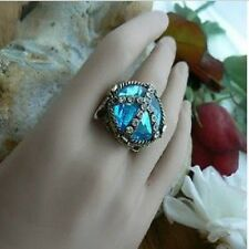 Peace Boho Crystal Anti War Ring Unusual Gift for her Trendy Retro Kitsch Punk