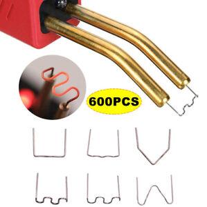 600Pcs Hot Stapler for Staples Plastic Welder Tool Car Damaged Bumper Repair Kit
