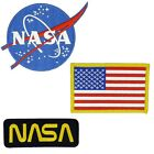 Nasa Blue Logo USA Flag Nasa Black-Gold Vector  Set of 3 Easy Iron/Sew On Patch