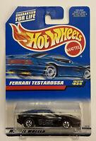 1998 Hotwheels Ferrari Testarossa Black! Very Rare! Mint! MOC!