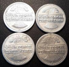Allemagne - République de Weimar - lot de x4 50 pfennig 1920 à 1922