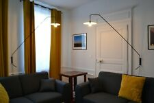 Lampe applique potence en acier laqué noir DESIGN 50'S