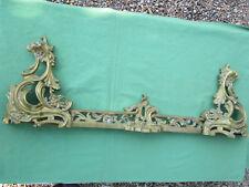 Devant de cheminée garniture laiton bronze ancienne style Louis XV largeur 84 cm