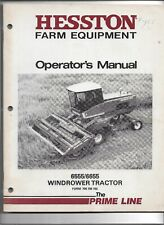OEM Hesston Model 6555 & 6655 Windrower Tractor Operator's Manual Form 700705102