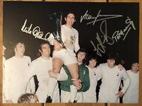 Tottenham Hotspur 1972 UEFA Cup Signed 16x12 Photo x 4 / Rare Spurs Image