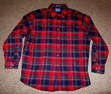 Vintage Pendleton Red Plaid LuMBeRJaCk 100% WOOL Shirt Men's Size XL