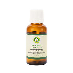 R V Essential Pure Musk Oil Abelmoschus Moschatus Cold Pressed Natural Unrefined