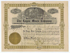 THE LOGOS MINES CO. GOLD LOOK PRINTED STOCK ARIZONA  SERIES A SEPTEMBER 1907