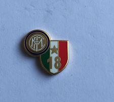 """INTER FC PINS DI PRESTIGIO 18 SCUDETTO 2010 LOGO """"PINS 016"""" clips (bottone)"""