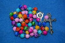 N° 53 Chapelet catholique perles chrétien rosaire dizainier religieux croix