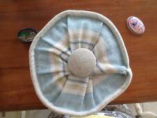 Laura Ashlley Irving Striped Duck Egg/Apple/Seaspray  Complete Bolster Cushion.