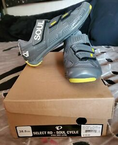 Pearl iZumi Soul Cycle Select RD Steel Gray Cycling Shoes Size 38.0 EU NEW