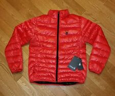 Spyder Primo Duck Down Puffer Winter Ski Jacket Men's Small Red $190 NEW