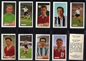Cigarette Cards Famous Footballers  1959 Rare mint set