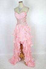 New TONY BOWLS 112757 Authentic Pink / White Bridal Wedding Evening Women Gown 2