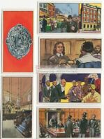 England Jewish Life Traditions Talmud Synagogue Britain Hebrew SIX Vintage Cards