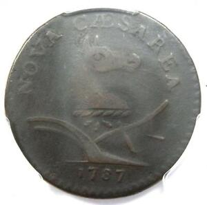 1787 New Jersey Colonial Coin (Pluribs Error Variety) - PCGS VF20 - $2,600 Value