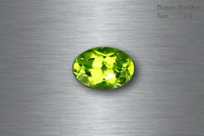 7x5 MM EXQUISITE BEST AAA GREEN PERIDOT 100% NATURAL UNHEATED !!