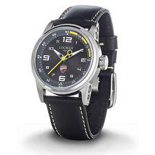 LOCMAN orologio uomo DUCATI quarzo datario grey dial con particolari in giallo