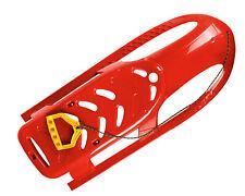 Ondis24 Kinderschlitten Rennrodel Bob Bullet mit Metallkufen Zugseil rot 102 cm