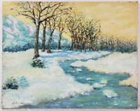 "Oil Painting on Canvas River Landscape Unframed Art HomeDecor (14"" x 18"")"