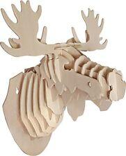 3-D Wall Mounted Moose Head Wood Jigsaw Puzzle