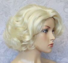 Short Curly Light Blonde Side Part Thick Heat Resistant Full synthetic Wig -7017
