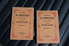L'arte di convitare spiegata al popolo - Giovanni Rajberti - 2 vol - 1^ed. 1937