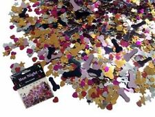 WILLY SCATTER HEN STAG PARTY DO CONFETTI SPARKLE DECORATION NIGHT Penis Hearts