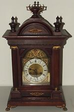 Antique Working 1905 Junghans Victorian Quarterly Chime Bracket Clock Germany