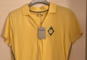 Daily Sports ladies golf polo yellow large B.N.W.T.
