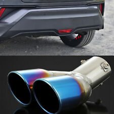 Steel Chromed Blue Rear Exhaust Pipe Outlet For Toyota C-HR CHR 2017-2018