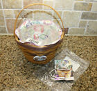 Longaberger 2000 May Series MORNING GLORY BASKET COMBO Liner Protector Tie-On PC
