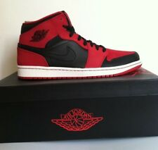 "NWBX NIKE AIR JORDAN 1 MID ""BRED"" BLACK-GYM RED SIZE 11.5 MEN'S  [554724-005]"