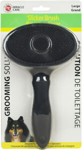 Miracle Care Oval Black Slicker Brush (large or small)