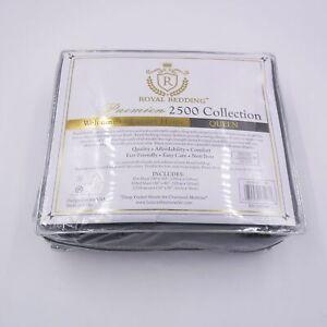 Royal Bedding 2500 Collection Premier Bamboo Sheet Set Queen Gray Ultra Soft