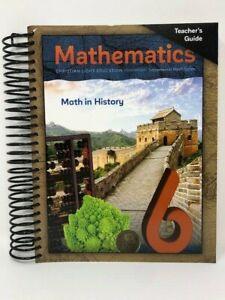 New; Christian Light Education-Incremental Math series :Math 6 - Teacher's Guide