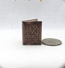 NADIA'S CODEX SPELL BOOK Dollhouse Miniature Book 1:12 Scale Book SUPERNATURAL