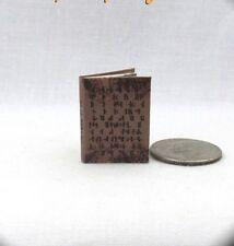 NADIA'S CODEX SPELL BOOK Dollhouse Miniature Book 1:12 Scale Book SUPERNATURAL