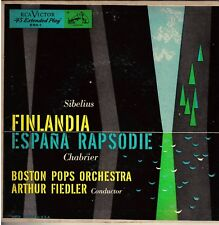 "BOSTON POPS!! - ""FINLANDIA"" B/W ""ESPANA RAPSODY"" RCA RED SEAL ERA-1MONO 45 VG+!!"