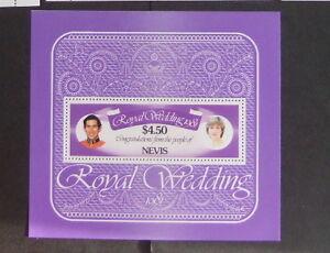 Nevis  1981 Royal Wedding MS miniature Sheet MNH UM unmounted mint