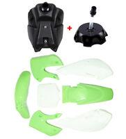 Green Plastics Fender Kit Fuel Tank Kawasaki KLX 110 KX 65 Suzuki DRZ 110 RM 65