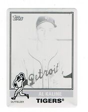 AL KALINE *BLACK PRINTING PLATE* 2015 TOPPS ARCHIVES #184 TRUE 1/1 TIGERS HOF