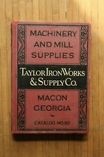 Machinery & Mill Supplies Vintage Taylor Iron Works & Supply Co Book Catalog 50