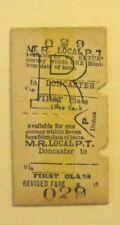 Vintage Midland Railway (MR) Ticket Doncaster 029 Original fc79a