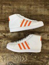 Adidas PRO MODEL Superstar  BY3729 White w/ Orange Stripes US Sz 9.5New
