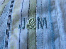 Johnston & Murphy Long Sleeve Cotton Multi-Color Striped Casual Shirt Large