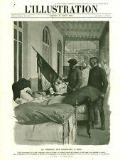 Document ancien le drapeau des chasseurs à pied 1915 issu de magazine