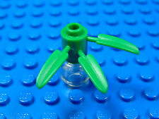 LEGO-MINIFIGURES SERIES X 1 GREEN PLANT BRICK ROUND 1 X 1 WITH 3 BAMBOO LEAFS
