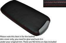 RED STITCH LEATHER ARMREST LID SKIN COVER FITS LEXUS IS200 IS220 IS250 06-12